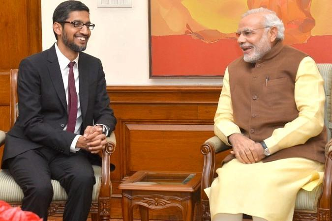 On his first visit to India after taking over as CEO of Google, Sundar Pichai met with the Indian PM Modi