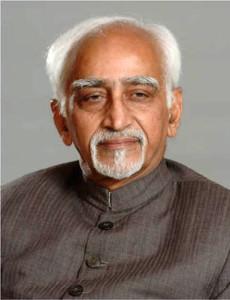 India's Vice President Hamid Ansari