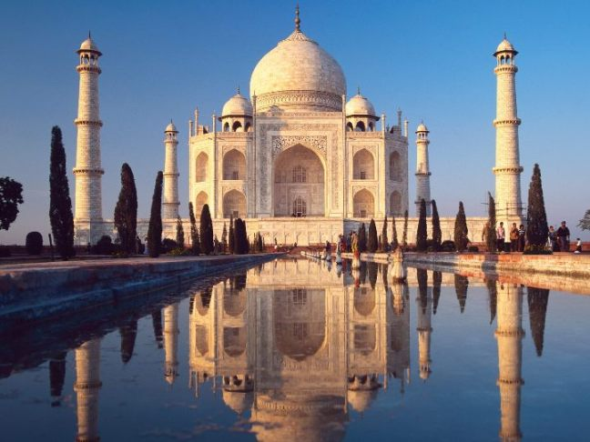 Taj Mahal is one the most visited spots by foreign tourists