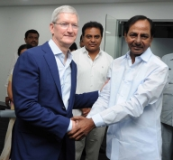 Apple CEO touched by Indians' warmth, opens facility in Hyderabad