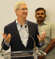 Tim Cook-Hyderabad