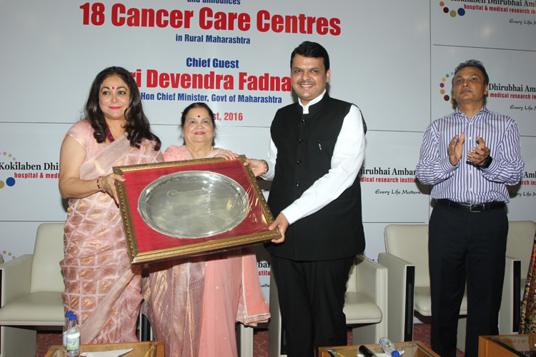 Maharashtra Chief Minister Devendra Fadnavis at the launch of Kokilaben Dhirubhai Ambani Hospitals Oncology Program