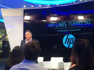 Dion Weisler, President and Chief Executing Officer, HP, addressing the media at HP Labs event in Palo Alto, California. (Photo: IANS)