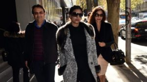 Pankaj Oswal (left) and his wife Radhika (right) and daughter Vasundhara leave court in Melbourne: There is little doubt it was the bank that blinked first. Photo courtesy: AAP