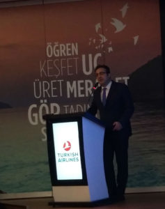 Turkish Airlines' Chairman of the board and executive committee Ilker Ayci