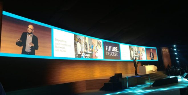 """Microsoft CEO Satya Nadella unveils """"Project Sangam"""" and """"Made for India"""""""