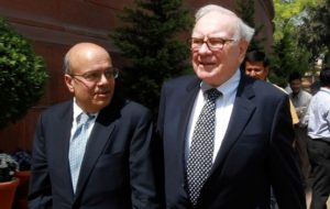 Ajit Jain, a potential successor to Warren Buffett, donates his company's stocks to IIT Kharagpur Foundation