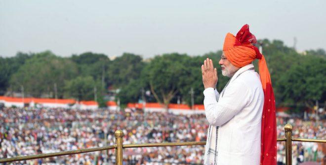 Modi showcases economic achievements in I-Day address